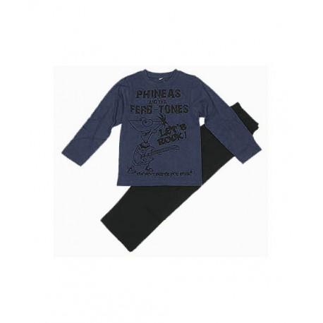 Pijama Niño PHINEAS & FERB Azul Marino