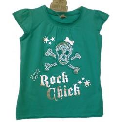 Top ROCK CHIC con lentejuelas Rosa / Turquesa
