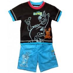 Conjunto SCOOBY DOO Bermuda + Camiseta  FUTBOL Azul Grana