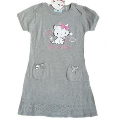 Vestido Charmmy Hello Kitty Punto Gris