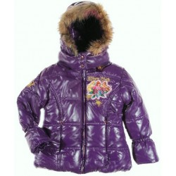 Girls WINX CLUB Purple Padded Jacket Winter Coat NWT