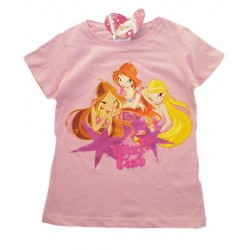 Camiseta WINX CLUB Glitter Rosa