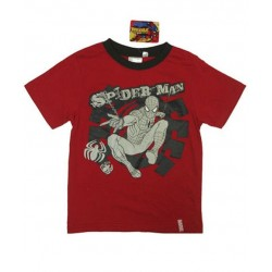 Camiseta SPIDERMAN m/c Logo Metalizado Rojo