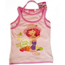 Camiseta Tarta de Fresa Doble Tirante Rosa