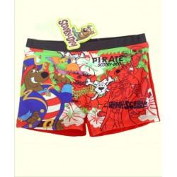 Bañador Boxer Scooby Doo Pirata rojo