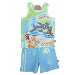 Conjunto Sport Tom & Jerry Surf Azul