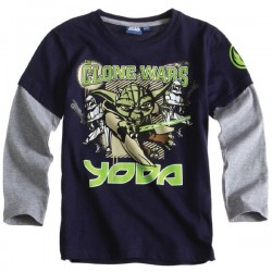 Camiseta Star Wars Yoda ml