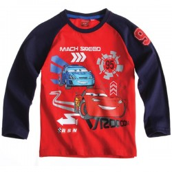 Camiseta Disney Cars ml roja