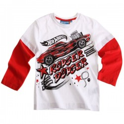Camiseta Hot Wheels ml blanca
