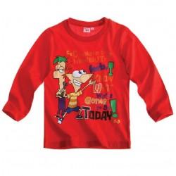 Camiseta Phineas & Ferb m/l roja