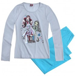 Pijama Monster High Azul Largo