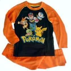 Pijama niño Pokemon largo naranja