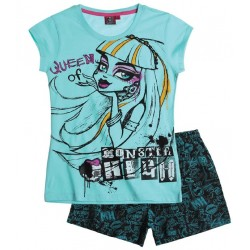 Pijama Corto Monster High Azul