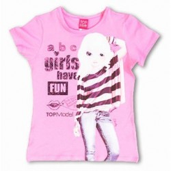 Camiseta Lycra Top Model rosa