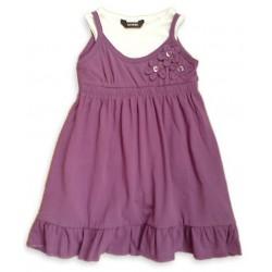 Vestido Tirantes Violeta con Camiseta