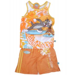 Conjunto Sport Tom & Jerry Surf Naranja