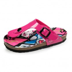 Monster High Toe Post Sandals Glossy Pink / Sandalias