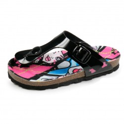 Monster High Toe Post Sandals Glossy Black / Girls Sandals