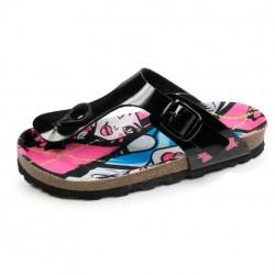 Monster High Toe Post Sandals Glossy Black / Girls Sandals