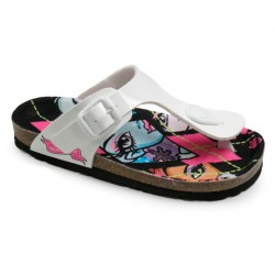 Monster High Toe Post Sandals Glossy White / Sandalias