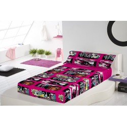 Bedding Set Monster High 3pcs Single Bed Sheets