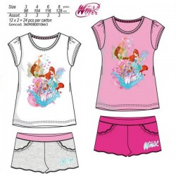 Conjunto Winx Club Top Purpurina + Shorts
