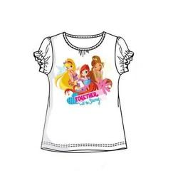 Camiseta Winx Club Blanca Purpurina