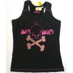 Camiseta TWEETY con brillantes Negro BAD BIRD