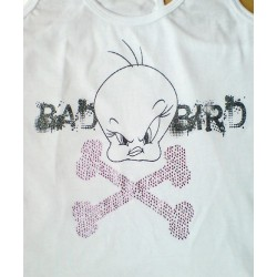Camiseta TWEETY con brillantes Blanco BAD BIRD