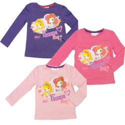 Camiseta Winx Club Friends Rock m larga