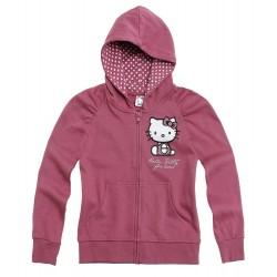 Sudadera capucha Hello Kitty Glitter Lila/gris
