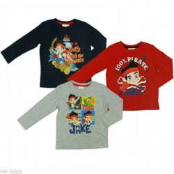 Camiseta Jake Pirata ML Gris/Rojo/Negro