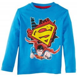 Camiseta Superman ML Rojo/Azul