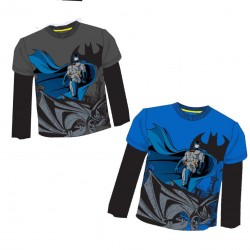 Camiseta Batman ML Gris/Azul