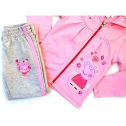 Chandal Peppa Pig 2 piezas Gris Rosa Joggin Suit