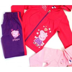 Girl's Peppa Pig 2 Piece Tracksuit Set Joggin Suit Official