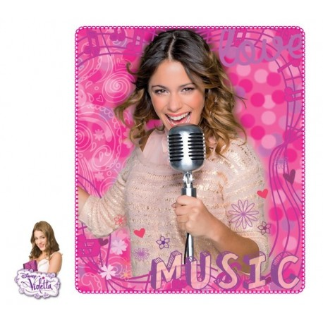 Manta Polar Violetta Love Music Rosa