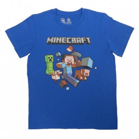 Camiseta niño Minecraft Azul