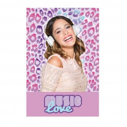 Fleece Blanket Violetta Love Music / Manta Polar