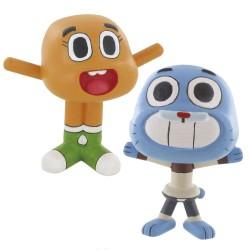 Figuras Gumball y Darwin 6cm El Asombroso Mundo de Gumball