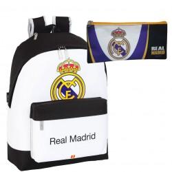 Mochila Real Madrid blanca grande