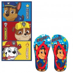 Toalla Y Chanclas Patrulla Canina Azul Chase Paw Patrol Towel Flipflops