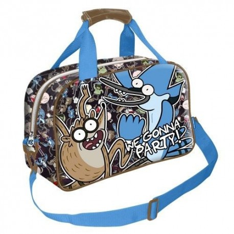 Regular Show Sports Travel Bag Mordecai Rigby Bolsa Historias Corrientes