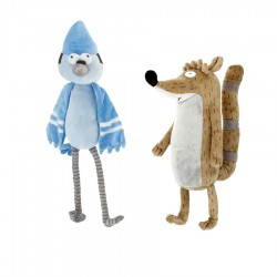 Regular Show Plush Toy Mordecay Rigby Historias Corrientes 22cm