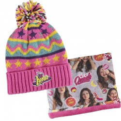 Gorro y Pañuelo Soy Luna Disney Beanie Hat with Neck Scarf