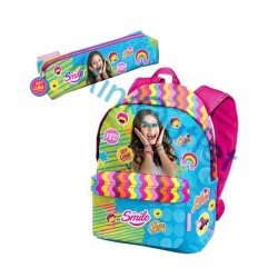 Mochila Soy Luna Disney grande 41cm con Portatodo School Bag Backpack