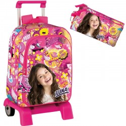 Mochila Trolley Soy Luna Disney 42cm con Portalapices Backpack with Cart
