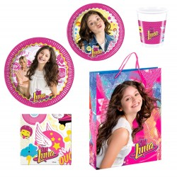Pack Fiesta Soy Luna Vasos Platos Servilletas / Party Pack for 8