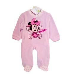 Pijama Minnie Terciopelo Bordado Baby Onesie Pyjama