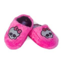 Monster High Rosa Glitter Soft Fur Slippers Peluche Purpurina